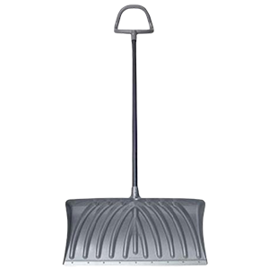 27″ Gray Deluxe Poly Snow Shovel Product Image