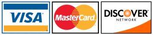 Visa, MasterCard, Discover