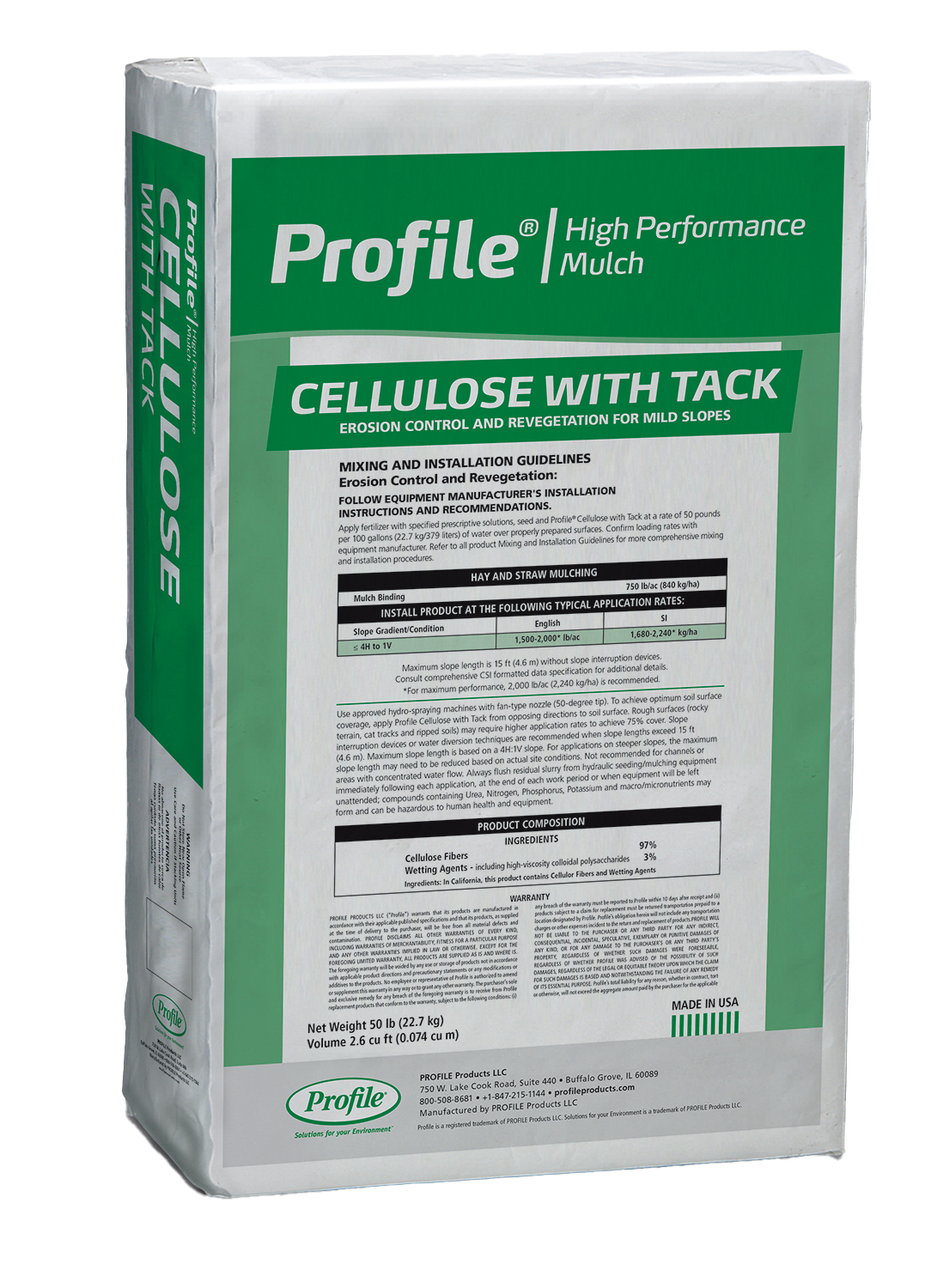 Profile Cellulose Mulch with Tack Product Image